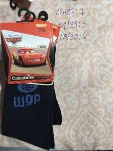 calcetín Disney cars WGP negro celeste