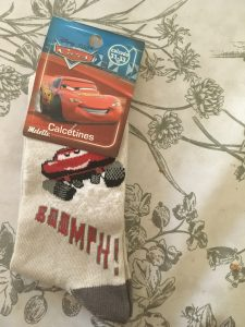 calcetín Disney cars boomph!! crema gris