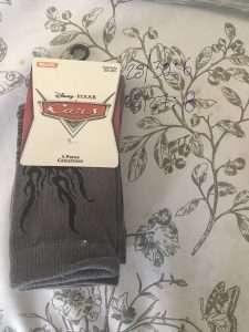 calcetín Disney cars flamas gris negro 3p