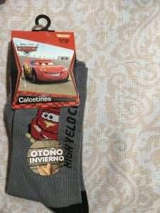 calcetín Disney cars high velocity gis negro