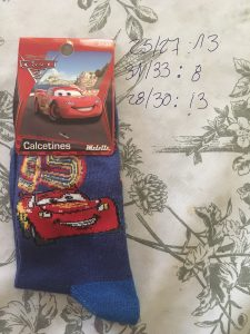 calcetín Disney cars rayo McQueen 95 azul oscuro