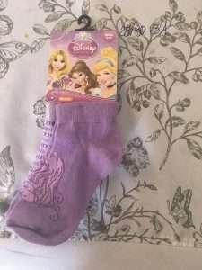 calcetines corto disney princesas aurora morado 2 pares