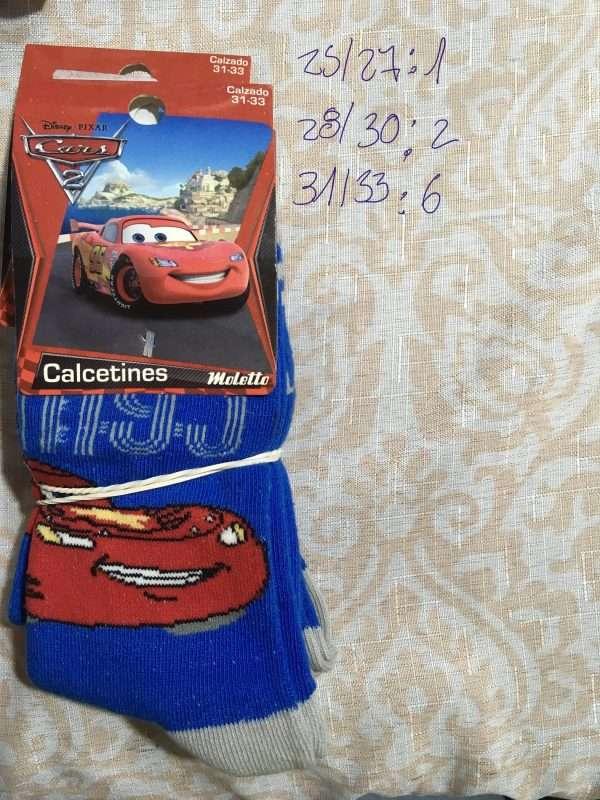 calcetín disney cars hp 95 azul gris claro