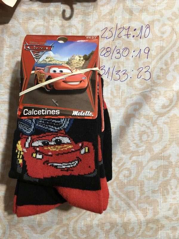 calcetín disney cars rayo Mcqueen 95 grande negro rojo